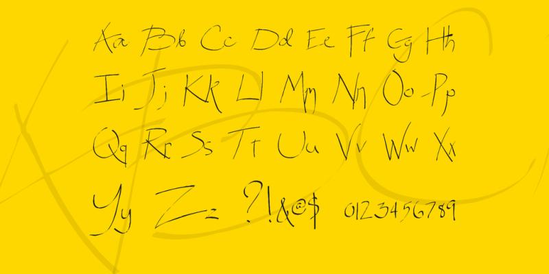Spitter Handwritten Font