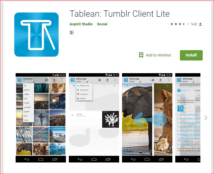 Tablean App
