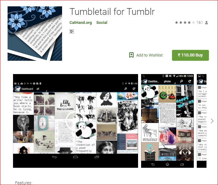 Tumbletail App for Tumblr