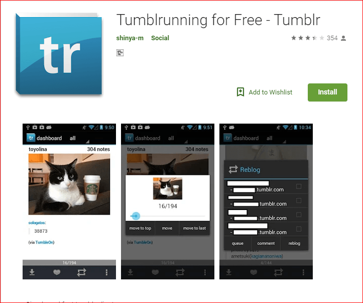 tumblr slideshow app android