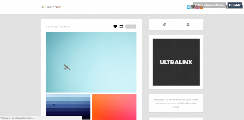UltraMnml Tumblr Theme