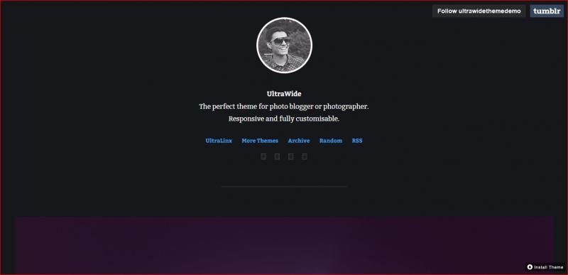 Ultrawide Tumblr Theme