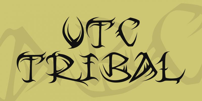 Vtc Tribal Font
