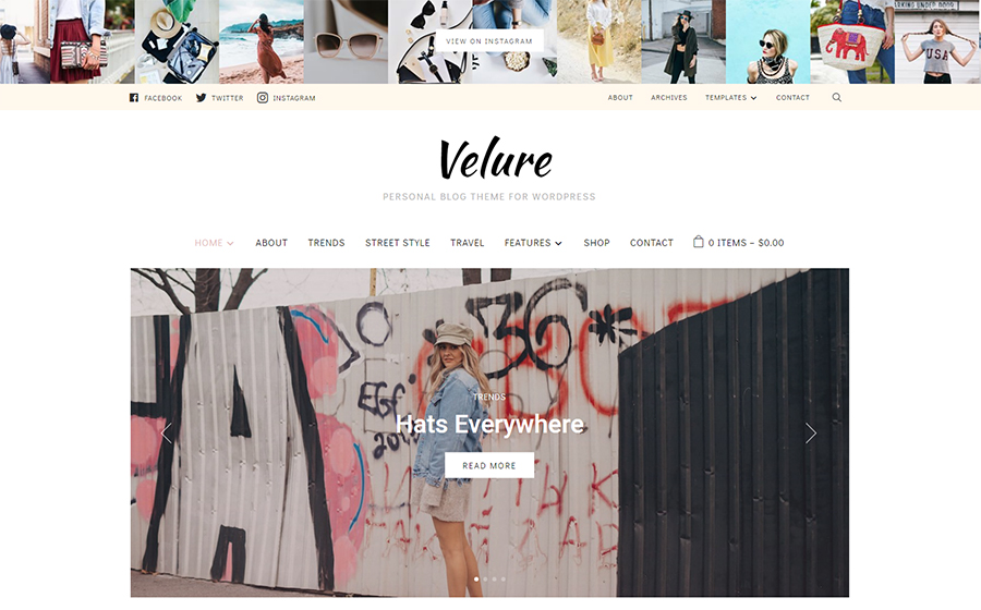 Velure – WordPress Theme