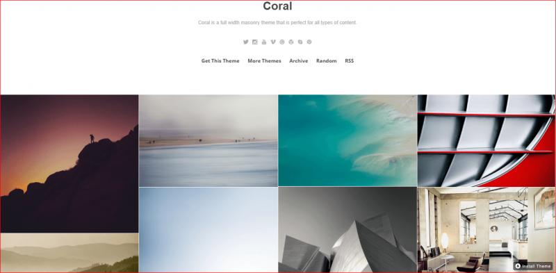 Coral Tumblr Theme