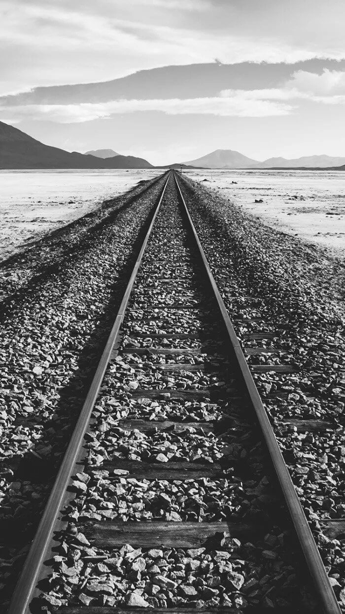 Railway Track iPhone Background