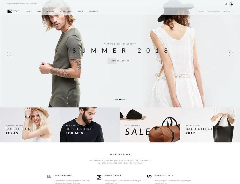 Artemis Fashion WordPress Theme