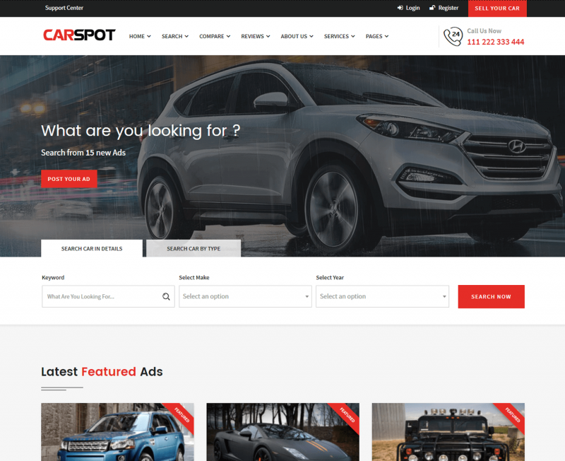 Carspot WordPress Theme