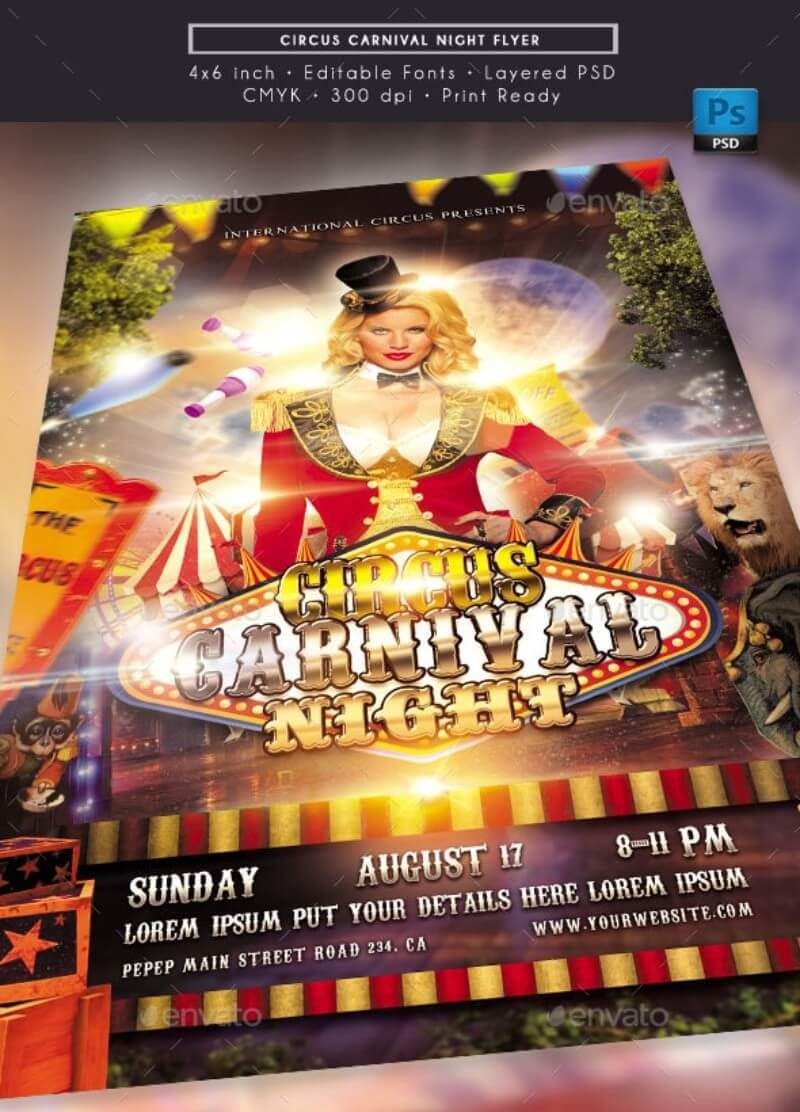 Circus Carnival Night Flyer