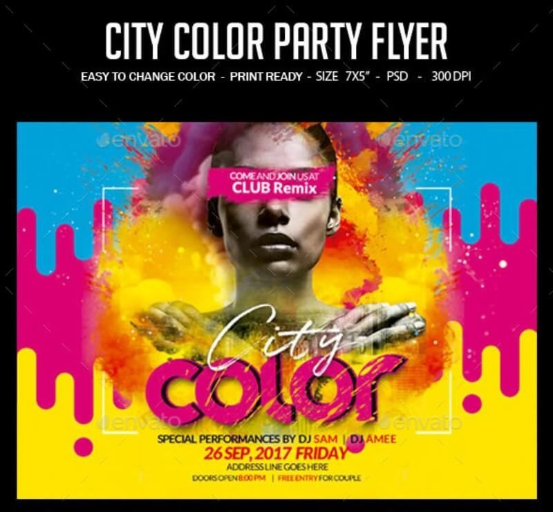 City Color Pary Flyer