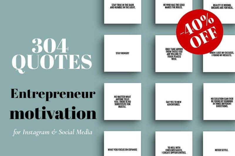 Entrepreneur Motivation IG Quotes Templates