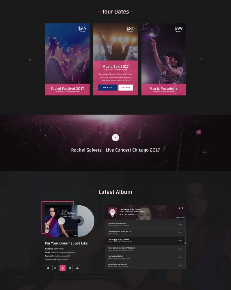 Flicke Musician WordPress Theme