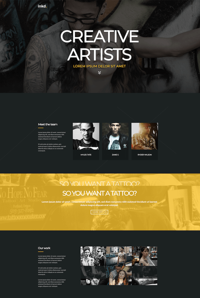 Inkd. Tattoo WordPress Theme