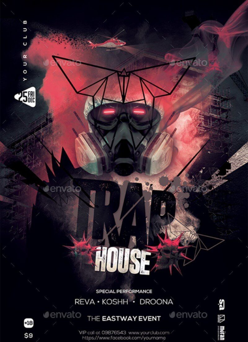 Trap House Poster / Flyer Template