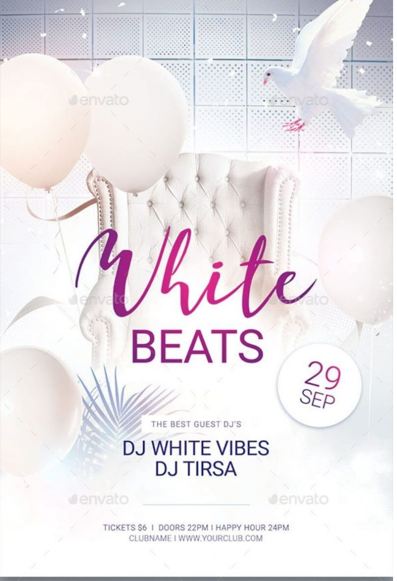 White Beats Flyer