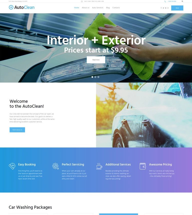 AutoClean WordPress Theme
