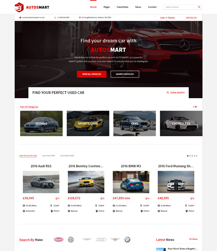 AutosMart WordPress Theme