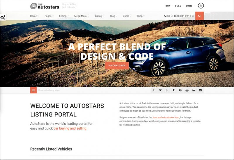 Auto Stars WordPress Theme