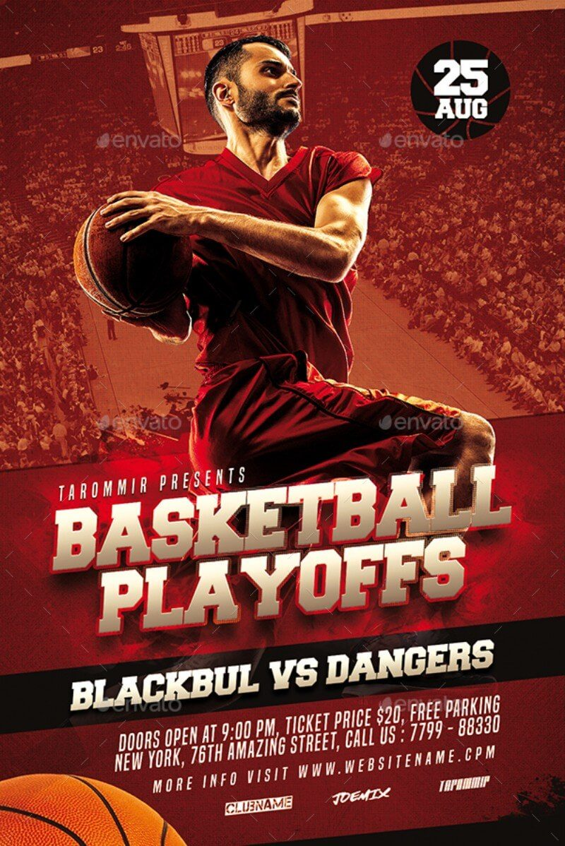 Basketball Playoffs Flyer