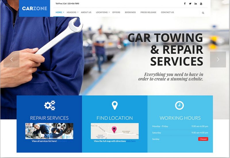 Car Zone WordPress Theme
