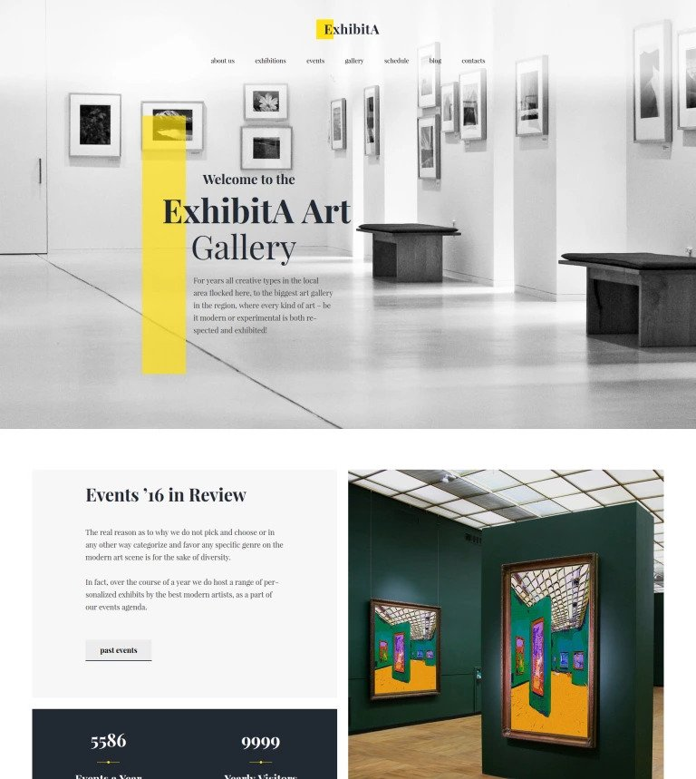 Exhibita Theme for Artists