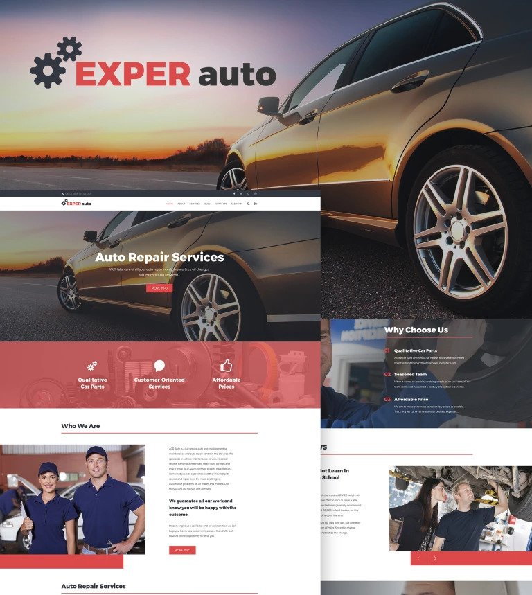Exper Auto WordPress Theme