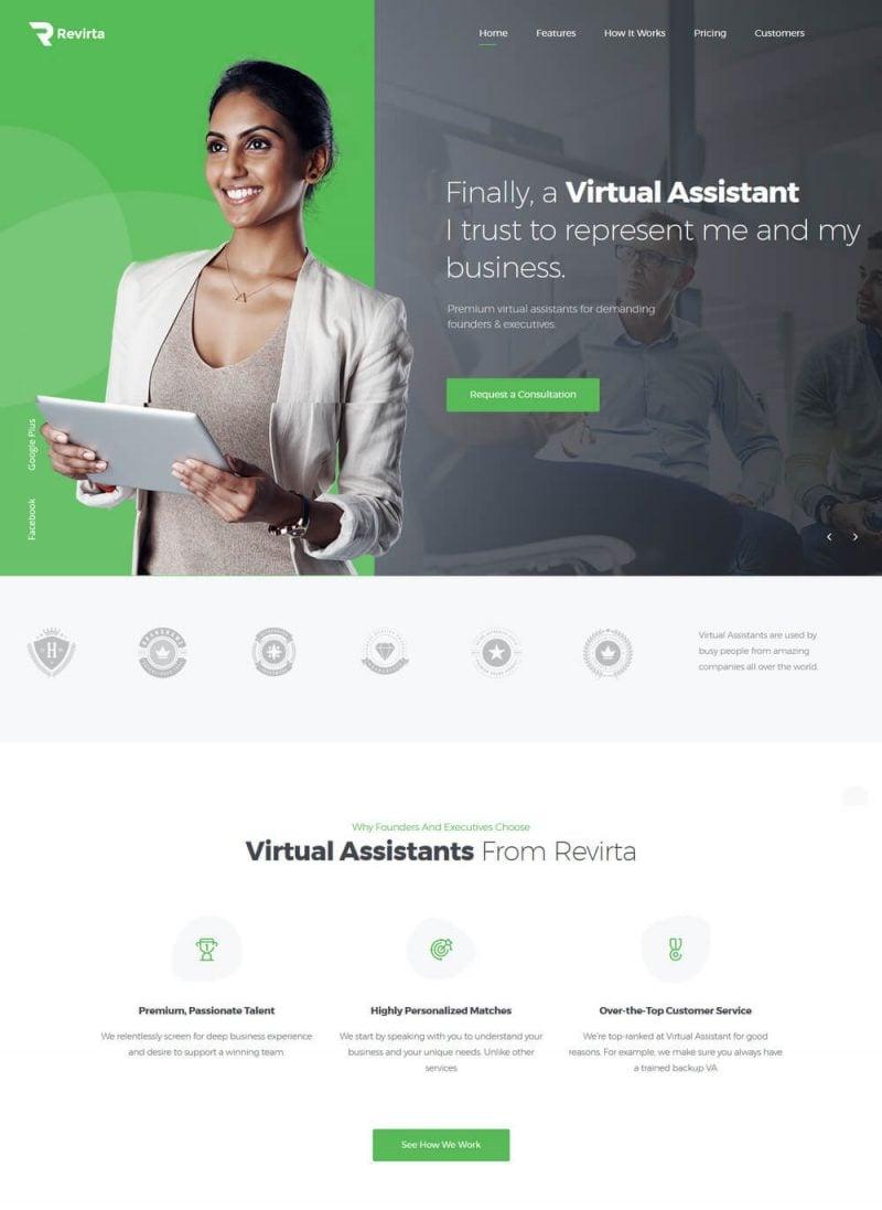 revirta-virtual-assistant-wordpress-theme