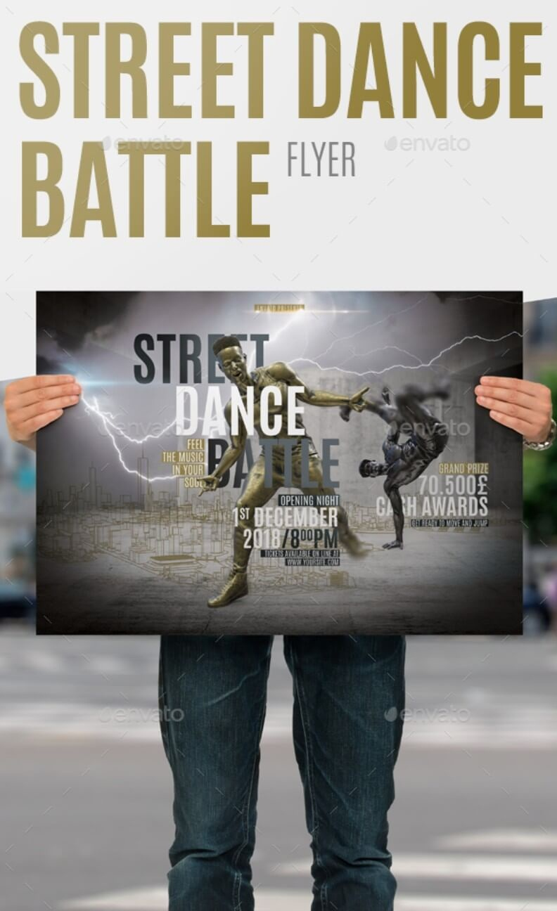 Street Dance Battle Flyer