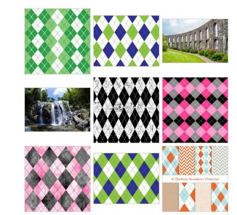 Astonishing Argyle Pattern Swatches For Illustrator