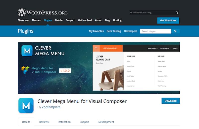 Clever Mega Menu for Visual Composer