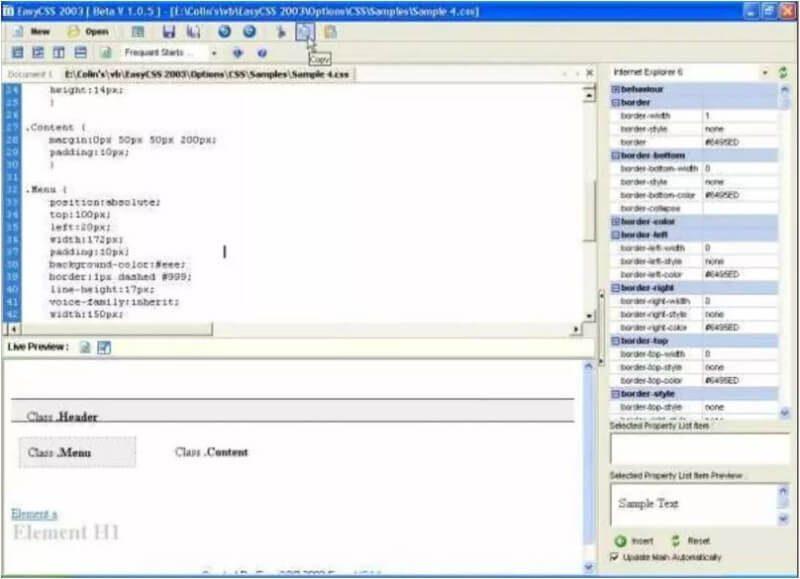 Easy CSS 2003