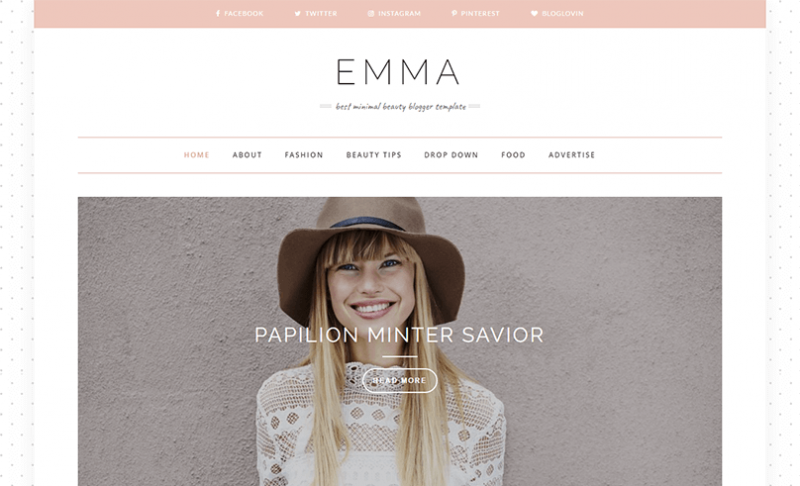 Emma Blog Template