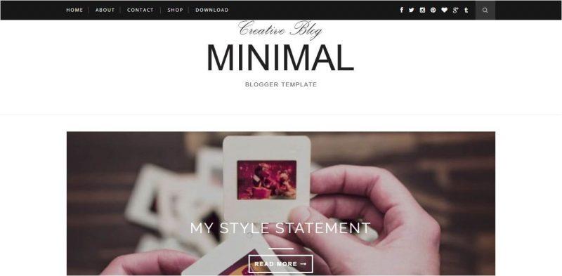 Minimal Blogger Template