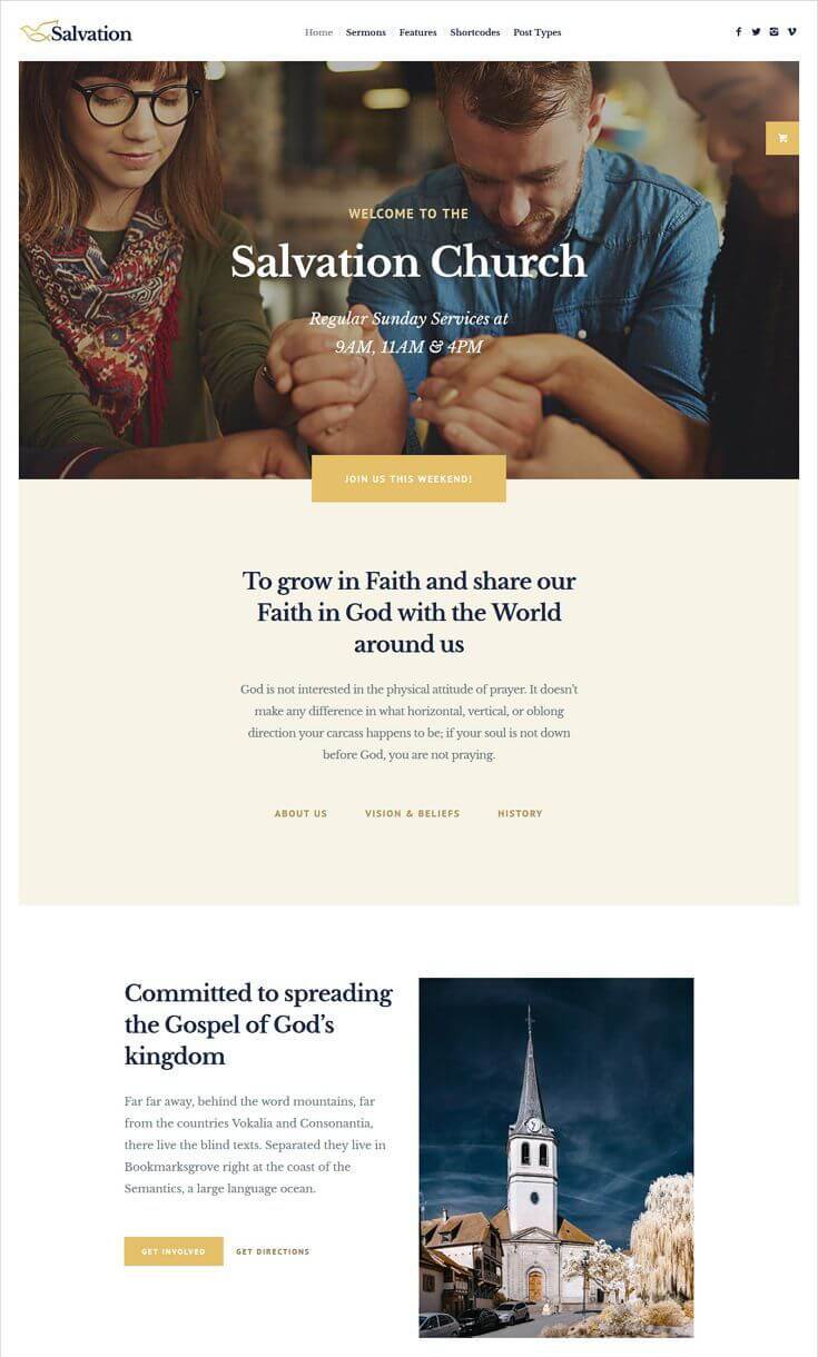 Salvation Church & Religion WP Theme