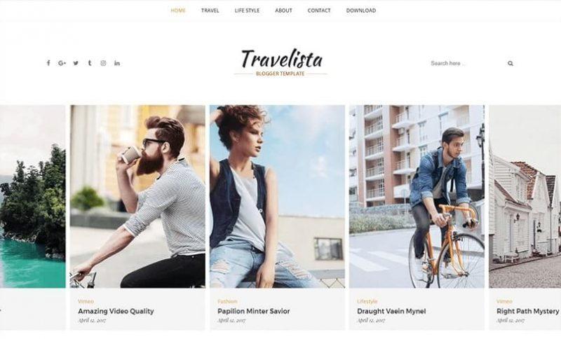 Travelista Blogger Template
