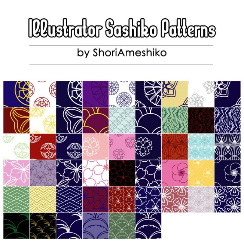 Illustrator Sashiko Patterns