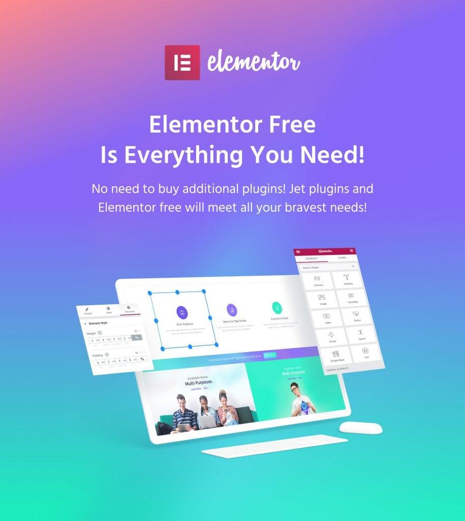 Elementor for TemplateMonster