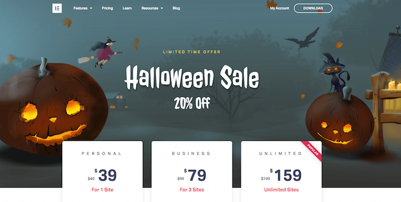 Elementor Plugin Helloween Deal