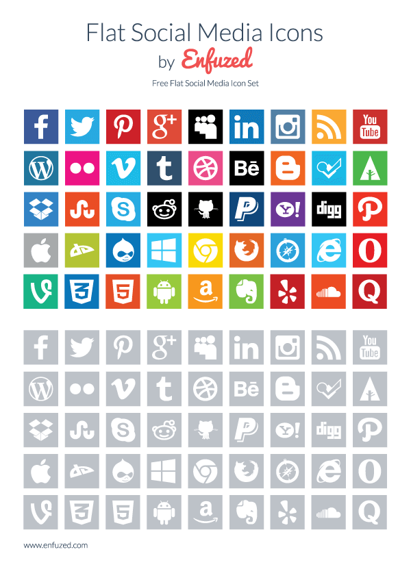 500+ High-Quality Free Vector Social Media Icon Sets