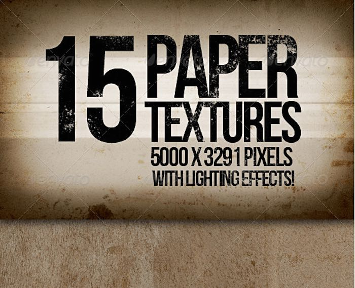 Paper Textures with Lighting Effects