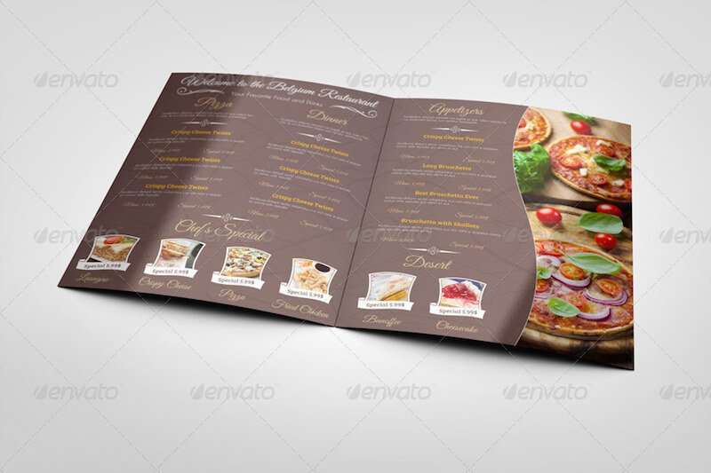 50  best free restaurant menu mockup templates 2019