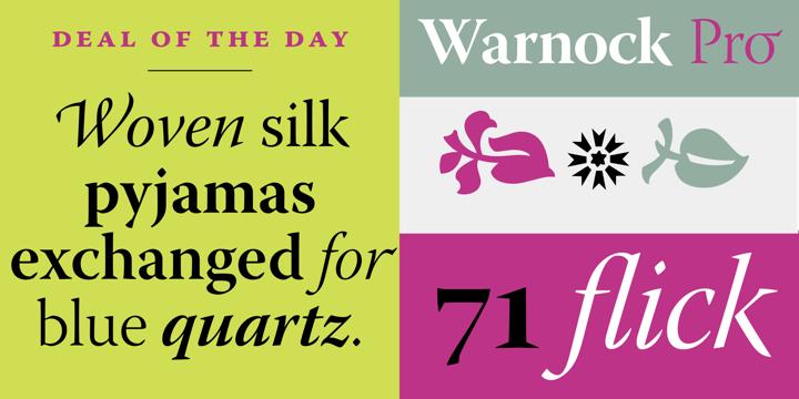Warnock Font