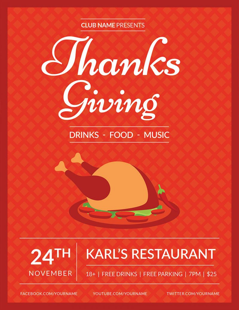 Club-Thanksgiving-Flyer-Template