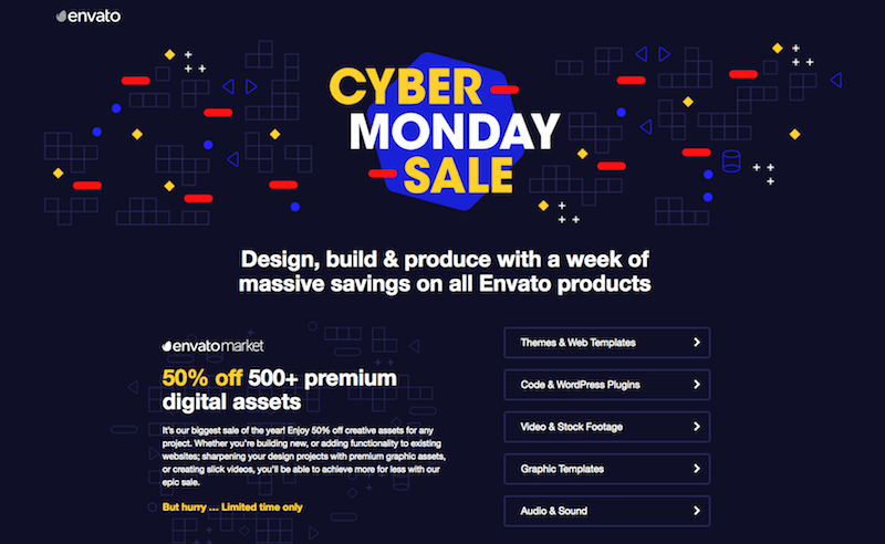 Envato Cyber Monday Offer