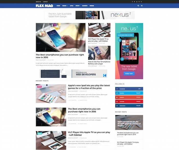 Flexi Mag Blogger Template