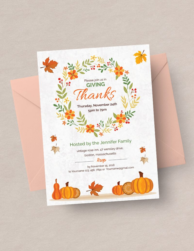 1000 thanksgiving invitation templates collection 2018