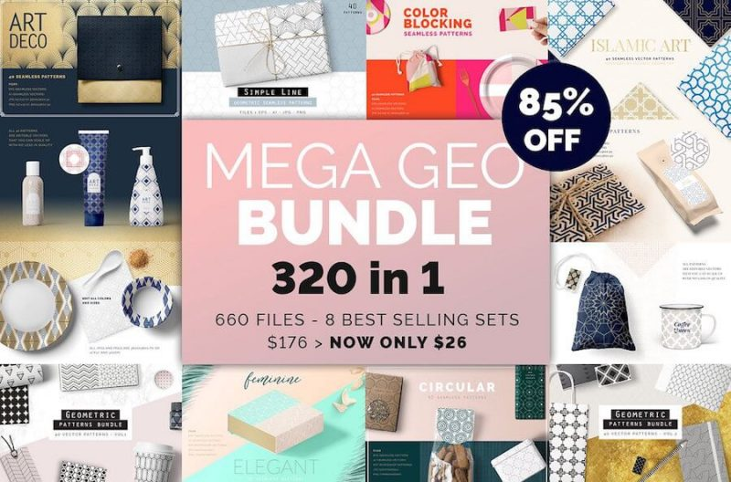 Mega Geometric Patterns Bundle