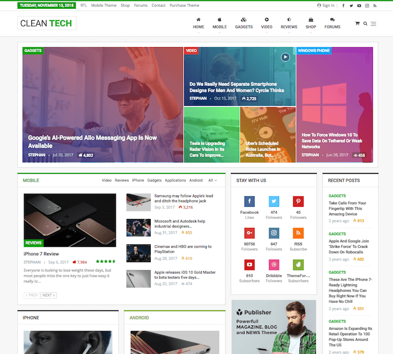 Publisher Tech Theme